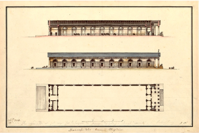Equestrian architecture-Claudia Satrustegui-Quarenghi-neoclassic architecture-manege-plans-©state central archive fro photo st petersburg
